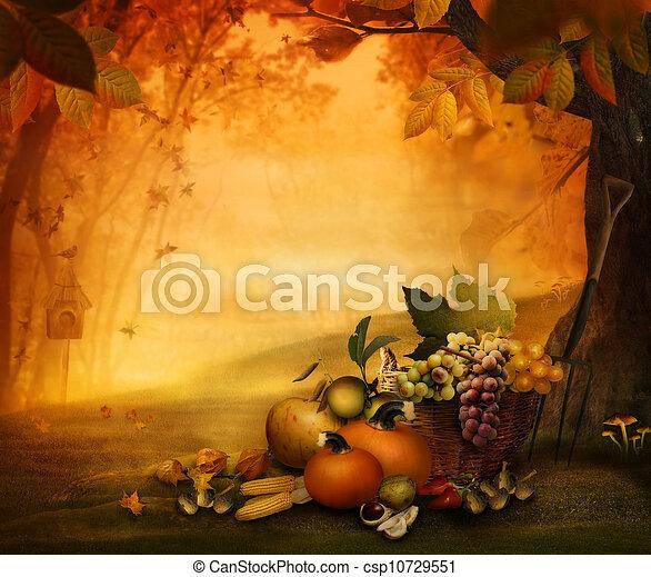 -, fruit, seizoen, herfst, ontwerp - csp10729551