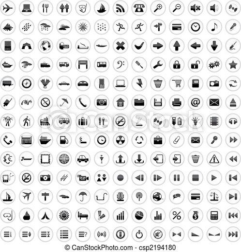 170, iconen, set - csp2194180