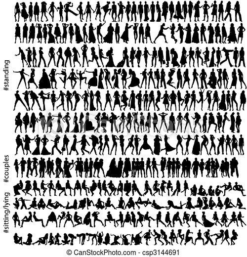 320, mode, silhouettes - csp3144691