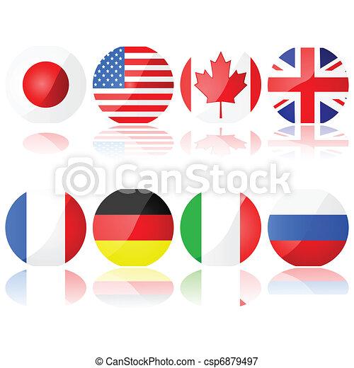 8, groep, landen - csp6879497