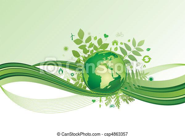 aarde, milieu, groene, ba, pictogram - csp4863357