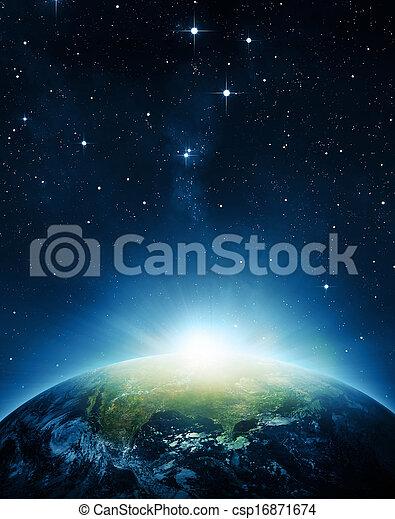 aarde, zonopkomst - csp16871674