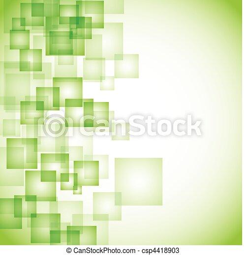abstract, achtergrond, groene, plein - csp4418903
