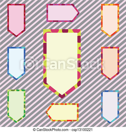 abstract, set, spandoek, corlorful, illustratie - csp13100221