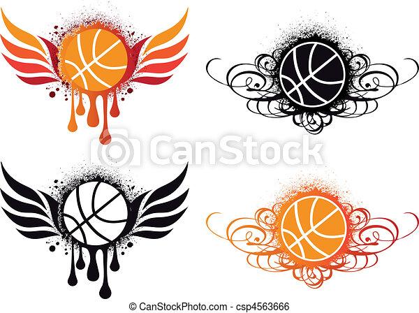 abstract, vector, basketbal - csp4563666