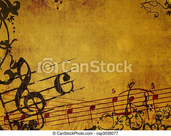 achtergronden, grunge, abstract, texturen, melodie - csp3038077