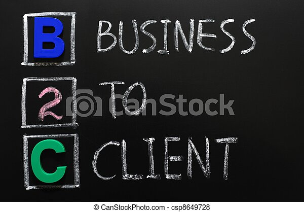 acroniem, b2c, klant, -, zakelijk - csp8649728