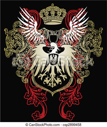 adelaar, heraldisch, embleem - csp2899458