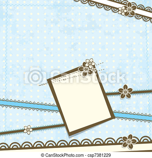 afvalmateriaal, vector, mal, kaart - csp7381229