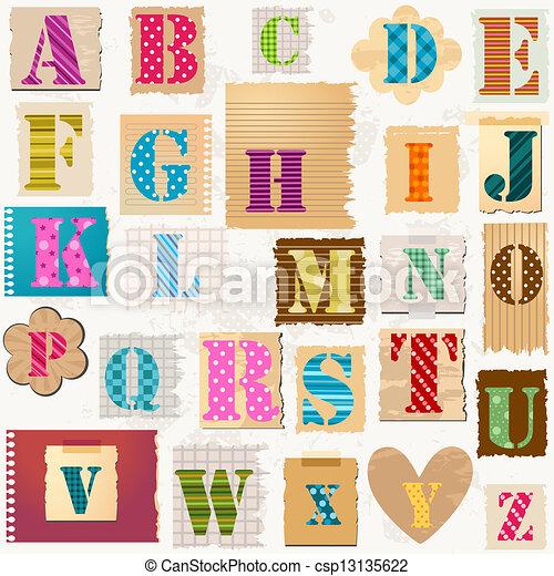 alfabet, textured - csp13135622
