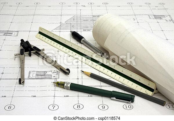 architectuur, plannen - csp0118574