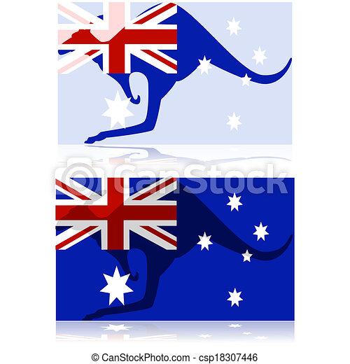 australiër, kangoeroe - csp18307446