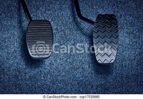 auto, pedaal - csp17535665