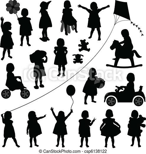 baby meisje, toddler, kinderen, kind - csp6138122
