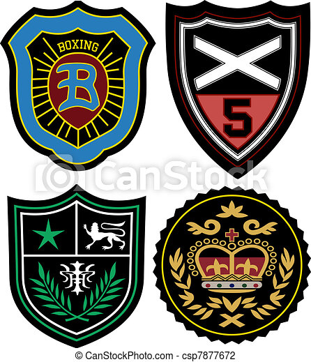 badge, set, embleem, politie - csp7877672
