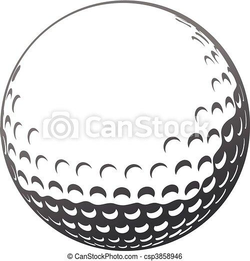 bal, golf - csp3858946