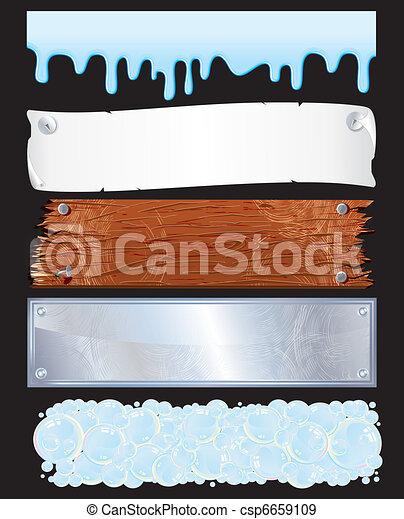 banieren, textured - csp6659109