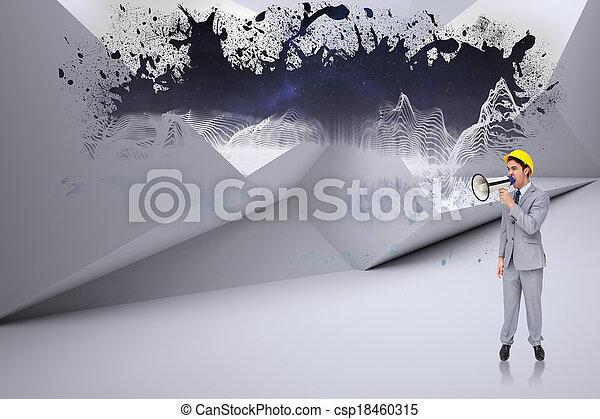 beeld, composiet, architect, jonge - csp18460315