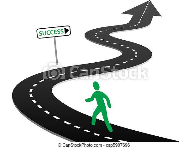 beginnen, succes, bochten, reis, initiatief, snelweg - csp5907696