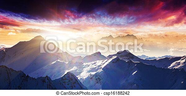 berg landschap - csp16188242