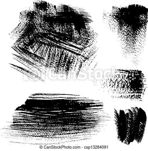 black , slagen, textured, borstel - csp13284091