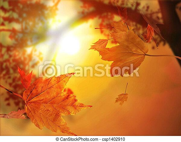 blad, herfst, herfst - csp1402910