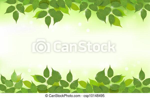 bladeren, achtergrond, natuur, groene - csp10148495