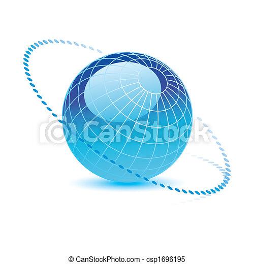 blauwe bol, vector - csp1696195