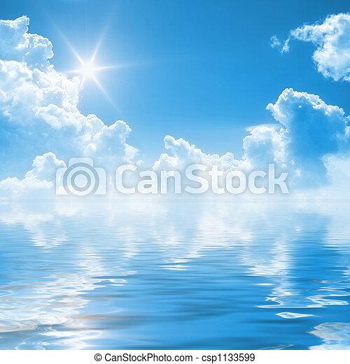 blauwe hemel, achtergrond - csp1133599