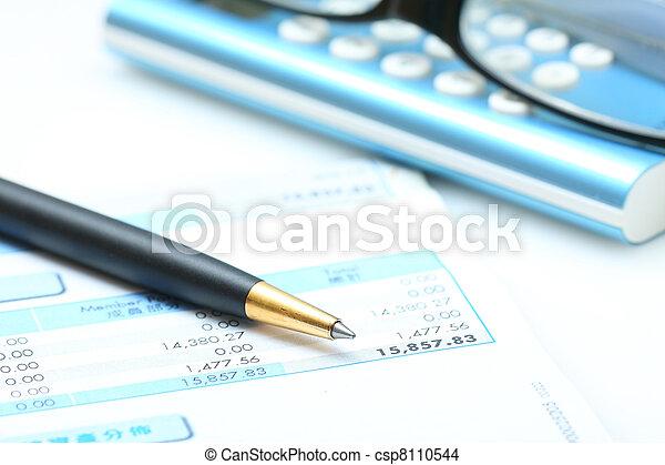 boekhouding, zakelijk, concept: - csp8110544