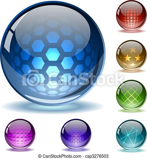 bollen, abstract, kleurrijke - csp3276503