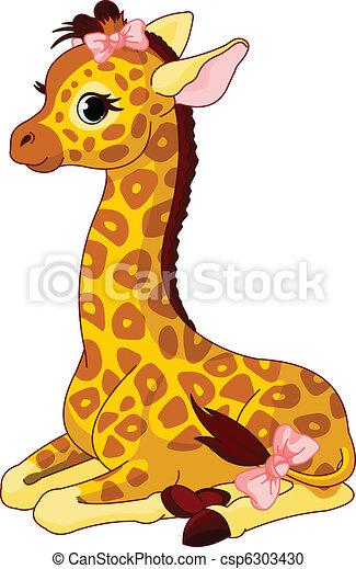 boog, giraffe kalf - csp6303430