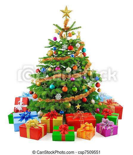 boompje, sterke drank, kleurrijke, g, kerstmis - csp7509551