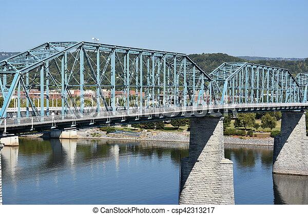 brug, chattanooga, straat, okkernoot - csp42313217