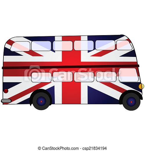 bus, dek, uk, dubbel - csp21834194