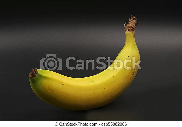 close-up, black , vrijstaand, enkel, banaan - csp55082066