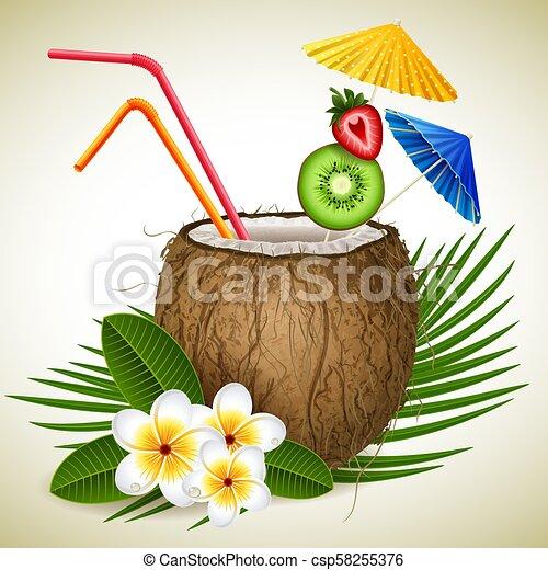 cocosnoot, cocktail - csp58255376