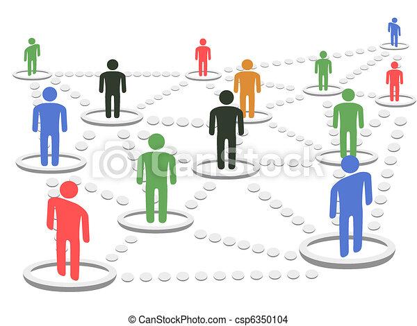 concept, netwerk, zakelijk - csp6350104