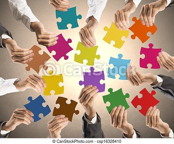 concept, teamwork, integratie - csp16328410