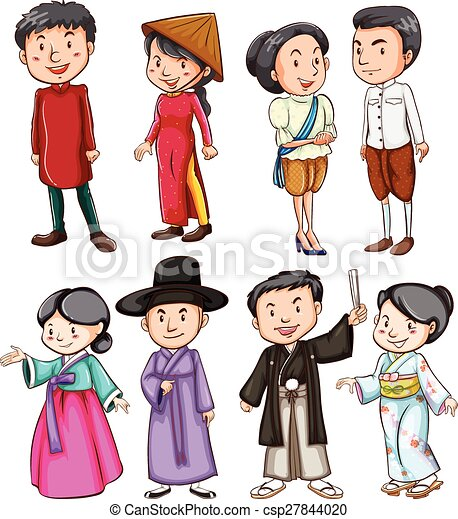 cultuur, het tonen, aziatische mensen - csp27844020