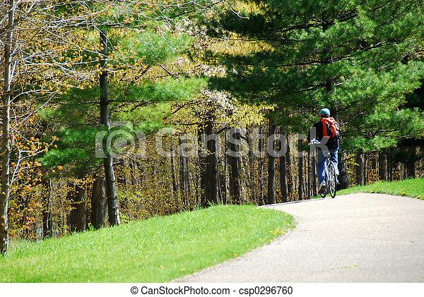 cycling, park - csp0296760