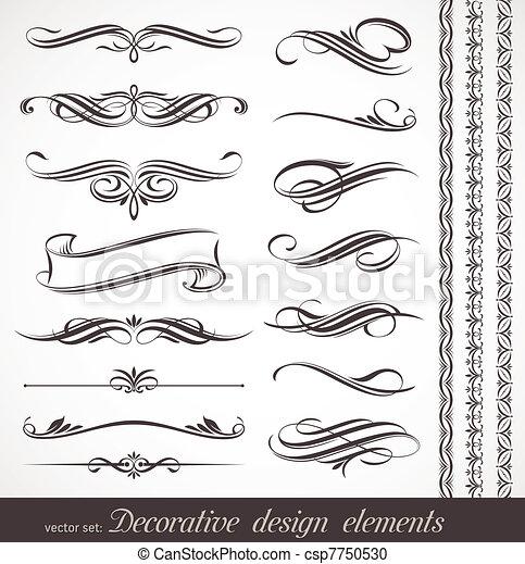 decoratief, decor, communie, &, vector, ontwerp, pagina - csp7750530