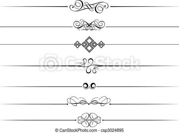 decoratief, dividers, pagina - csp3024895
