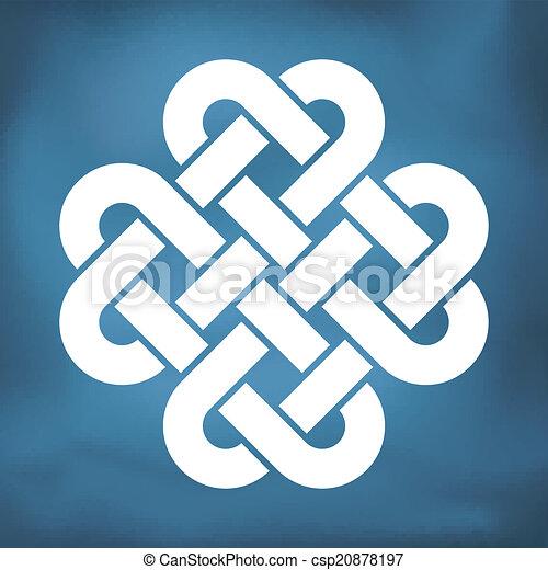 decoratief, keltisch, liefde, knoop - csp20878197