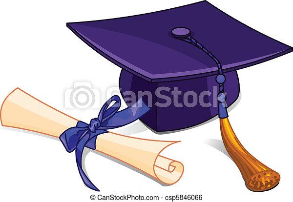 diploma, pet, afgestudeerd - csp5846066
