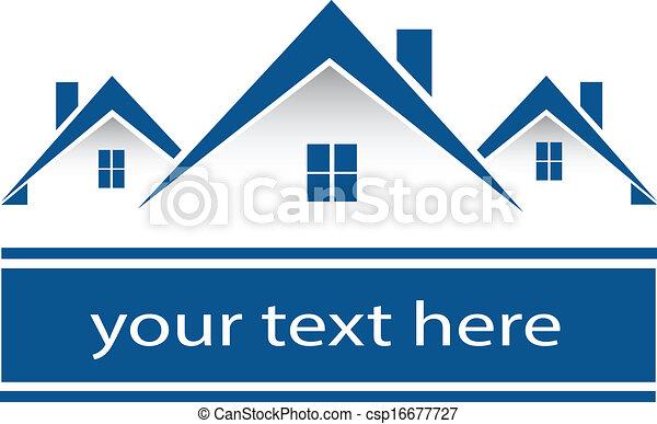 echte, huisen, logo, landgoed - csp16677727