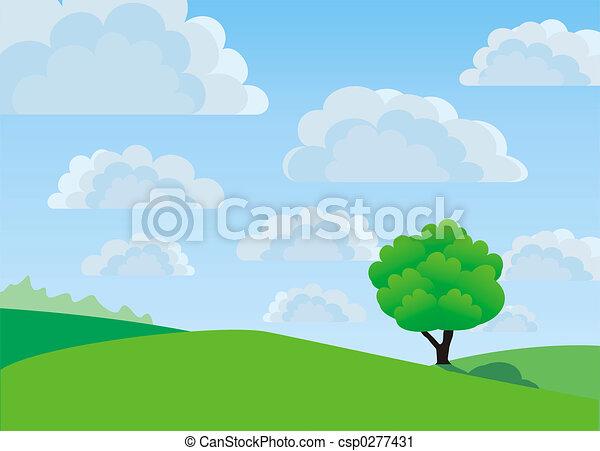 eenzaam, boompje - csp0277431