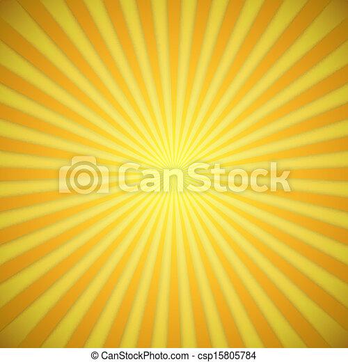 effect., gele, helder, vector, achtergrond, sinaasappel, schaduw, zonnestraal - csp15805784