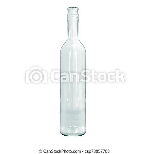 fles, wit water, achtergrond., glas, vrijstaand - csp73857783
