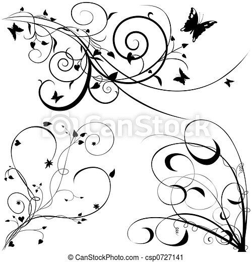 floral, c, communie - csp0727141